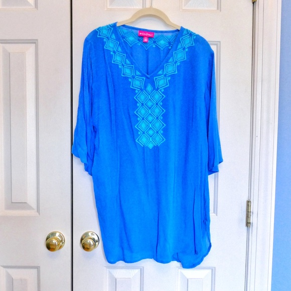 bfb44423781 Lilly Pulitzer for Target Tops | Embroidered Tunic Sz M | Poshmark